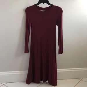 American Eagle Soft & Sexy Maroon dress